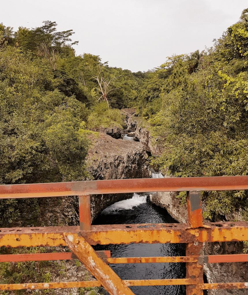 arrivée au bassin la paix vue du pont