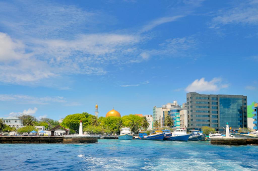 Une vue de Malé, la capitale des Maldives