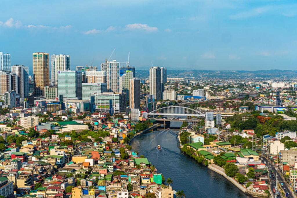 Une vue de Manille, la capitale des Philippines