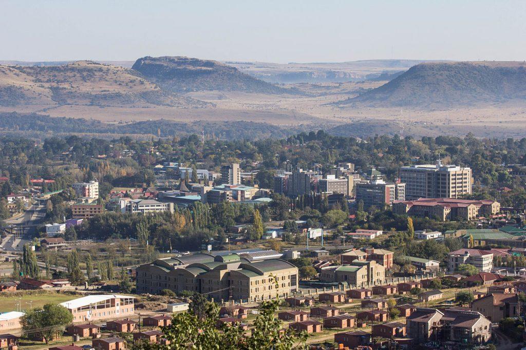 Un paysage de Maseru au Lesotho