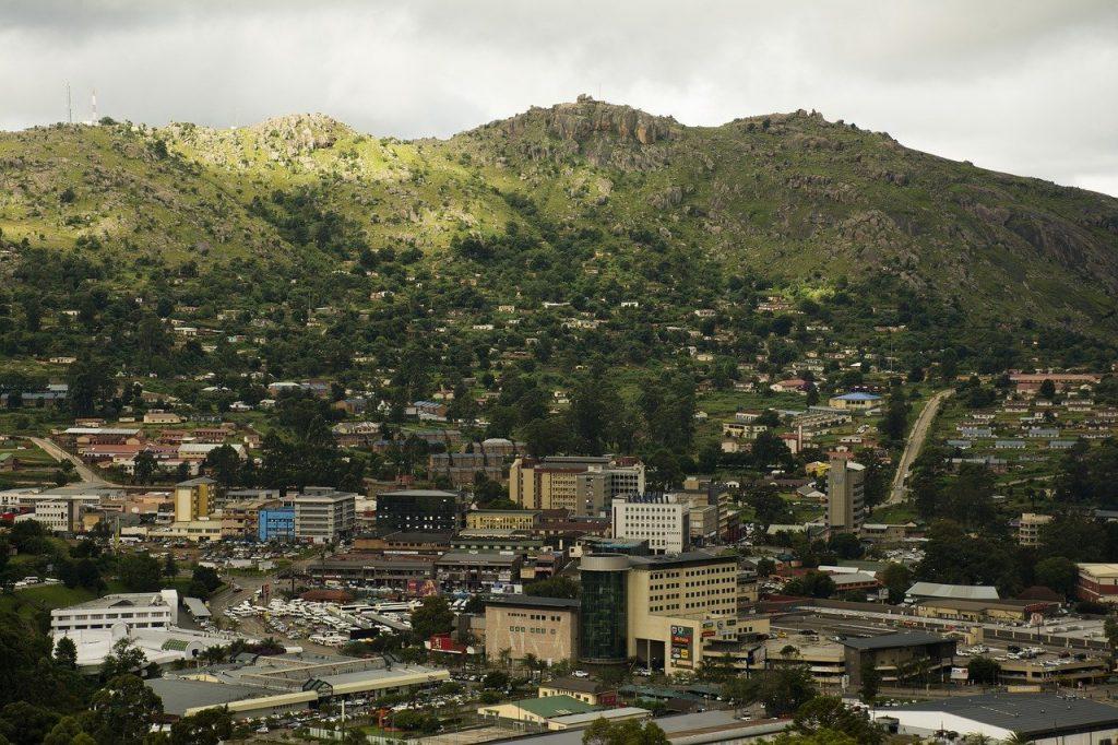 Une vue de Mbabane