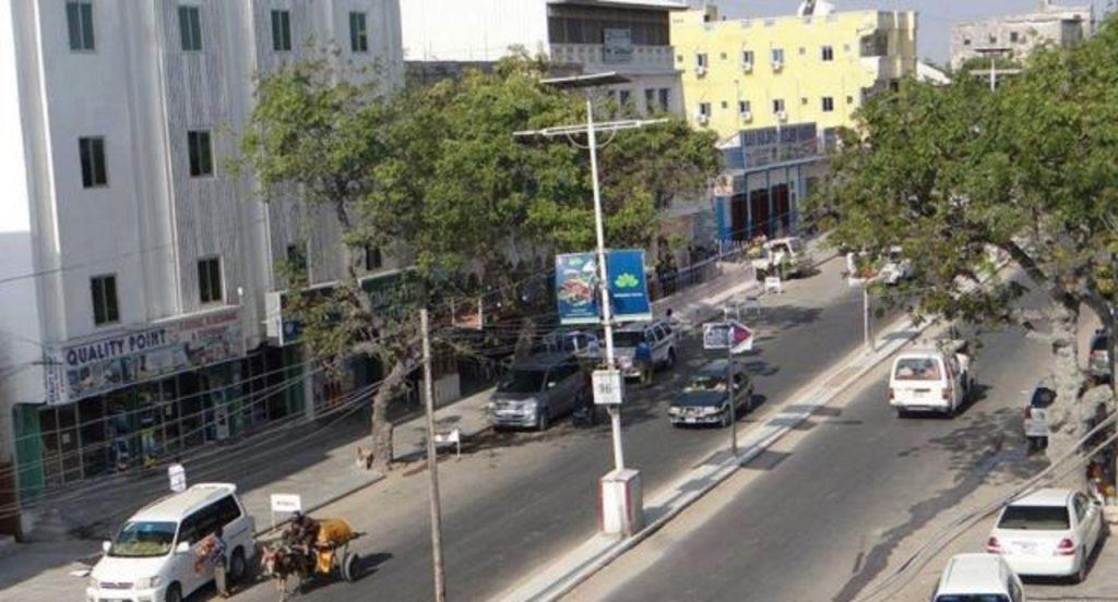 une rue de Mogodiscio vue de haut
