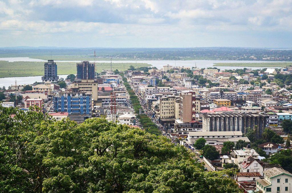 Vue du ciel de la ville de Monrovia la capitale du Libéria