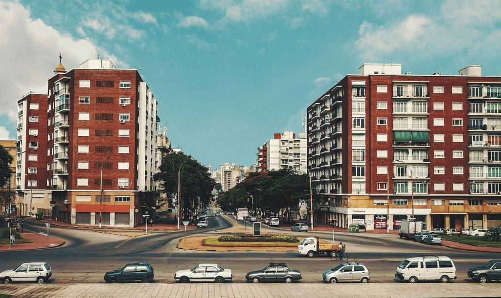 Une vue de Montevideo en Uruguay