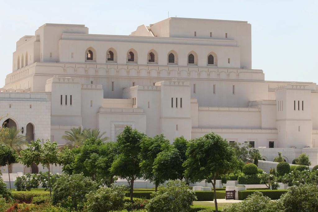 Le bâtiment de l'Opéra royal à Mascate