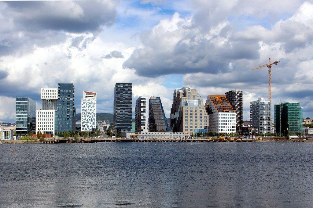 Bâtiments de Oslo en Norvège