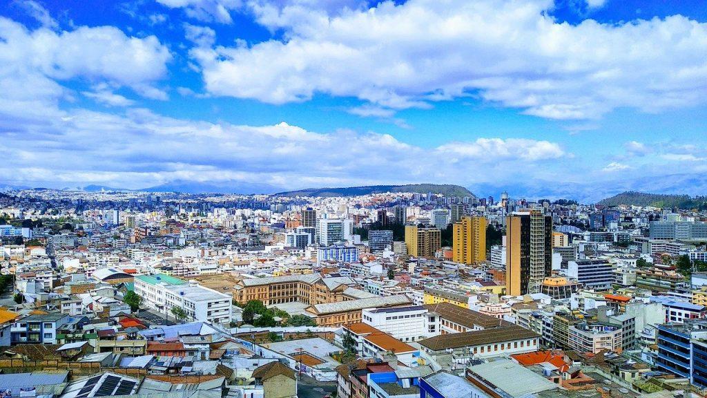 Quito la capitale de l'Equateur, un pays de l'Amérique du Sud