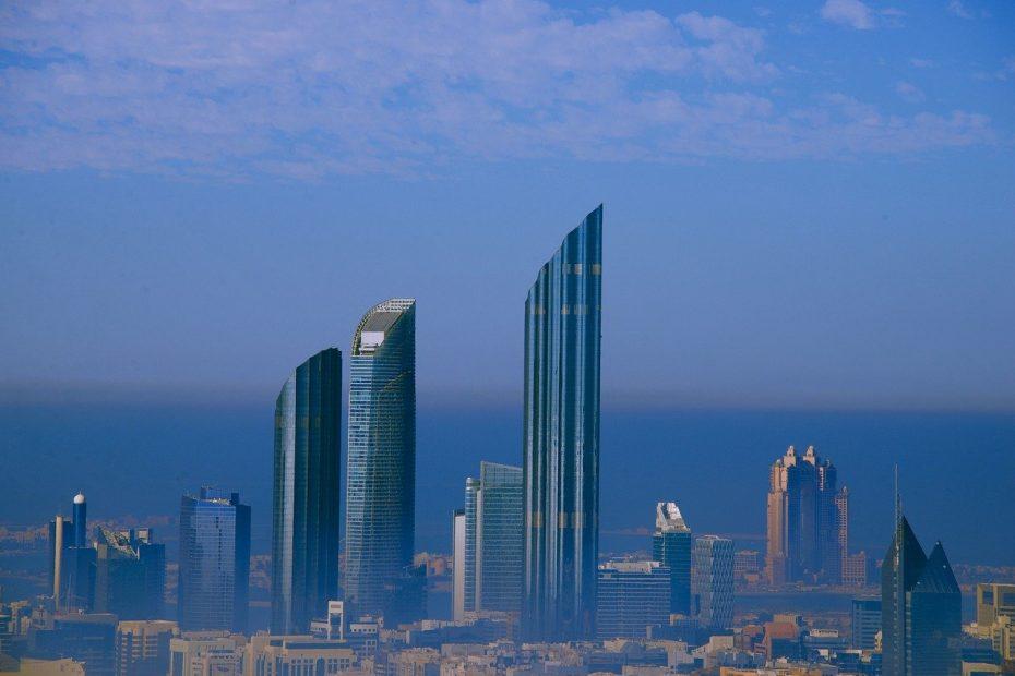 Une vue aérienne de Abou Dhabi aux Émirats arabes-unis