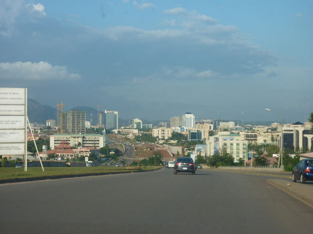 Une vue de Abuja au Nigéria