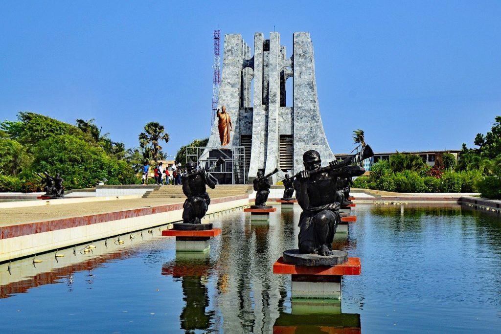 Monument Kwame Nkruma à Accra au Ghana