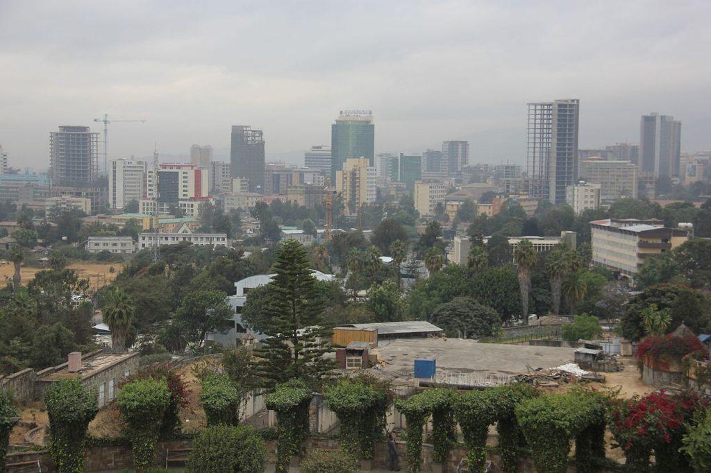 Une vue panoramique de Addis-Abeba, capitale de l'Ethiopie