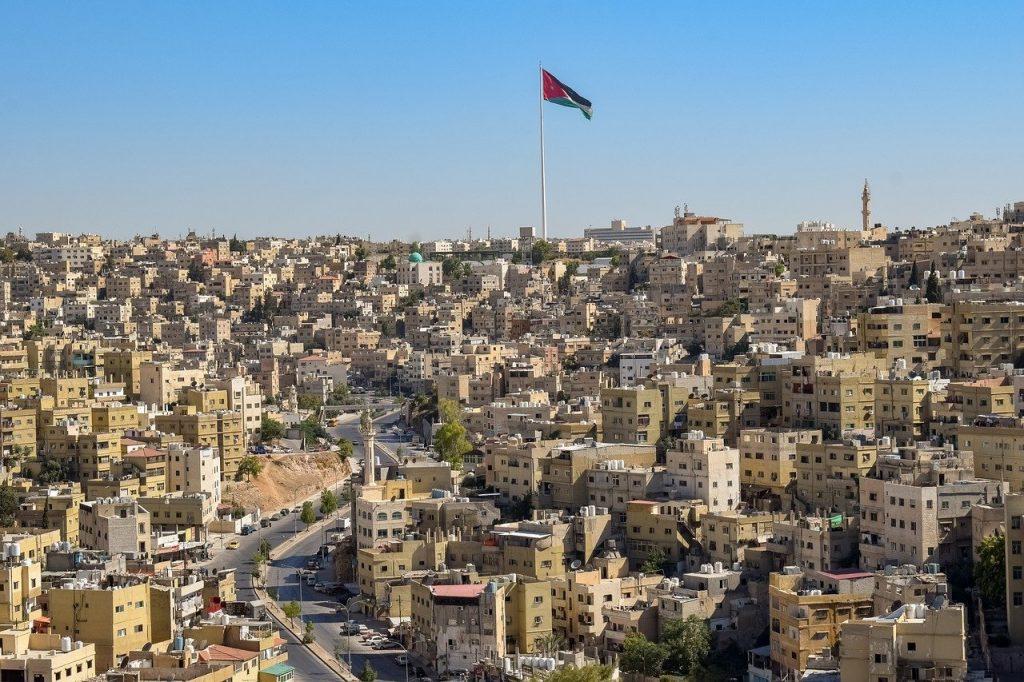 Une vue aérienne des maisons de Amman en Jordanie