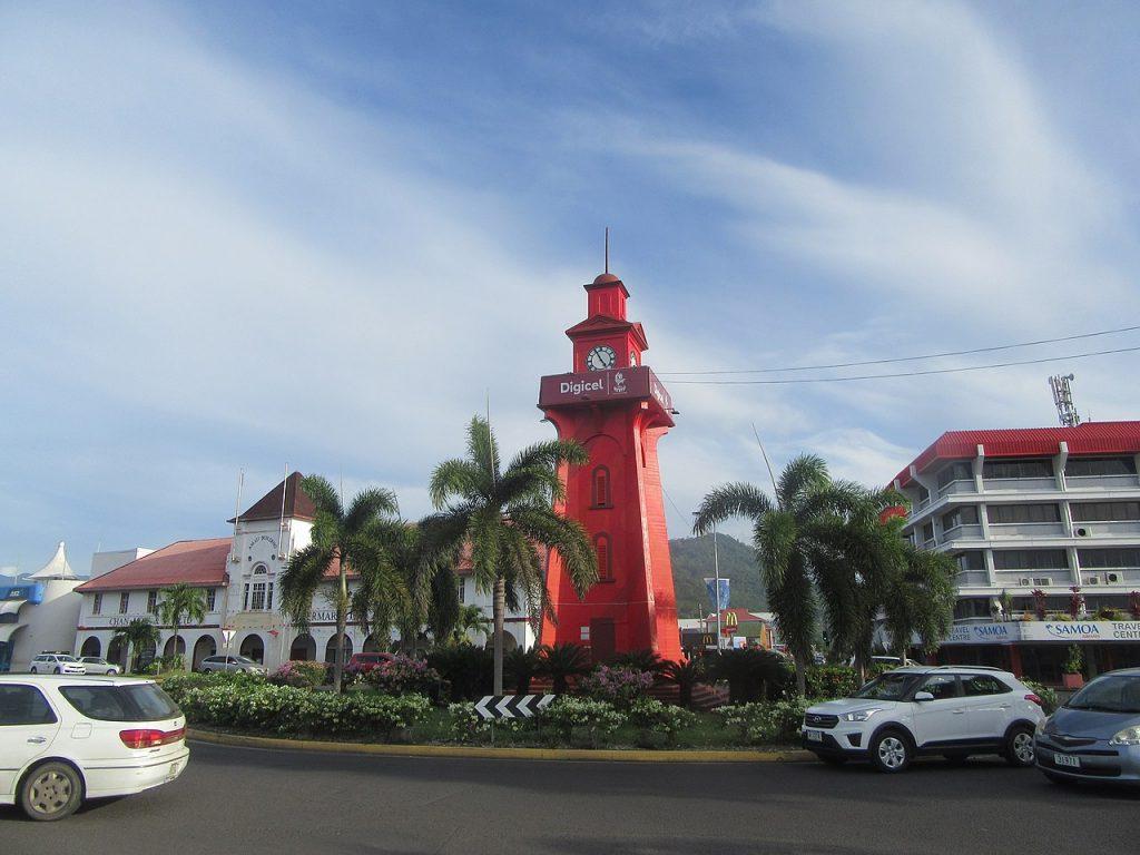 Tour d'horloge à Apia aux ïles Samoa