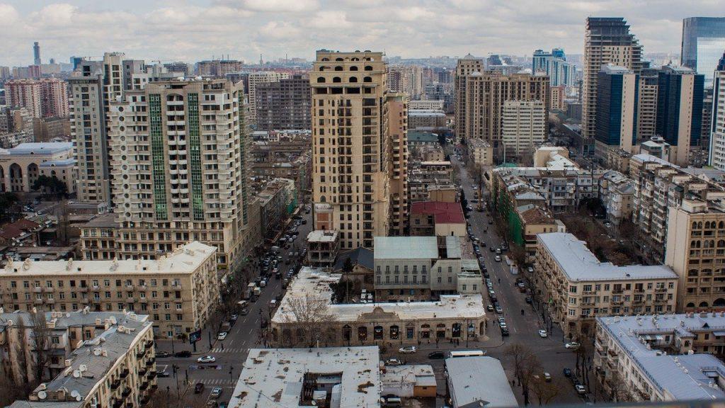 Un quartier de Bakou en Azerbaïdjan