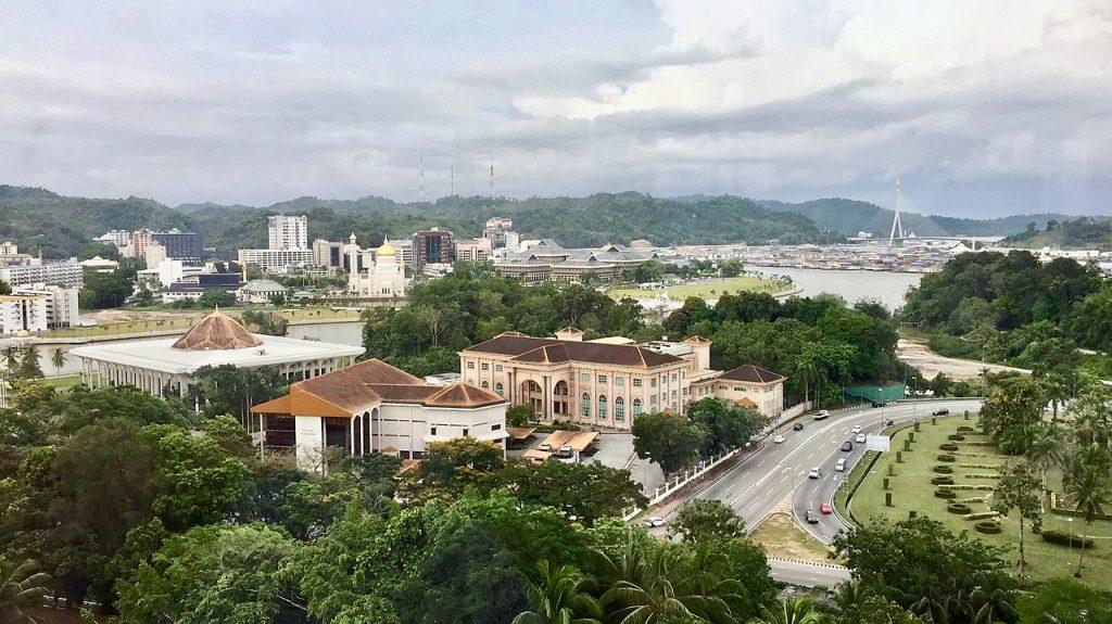 une vue panoramique de Bandar Seri Begawan, la capitale du Sutanat de Brunei