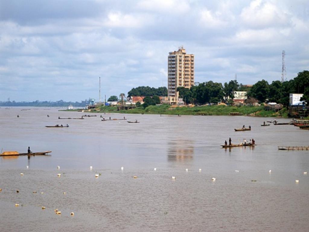 Une vue de Bangui en Centrafrique