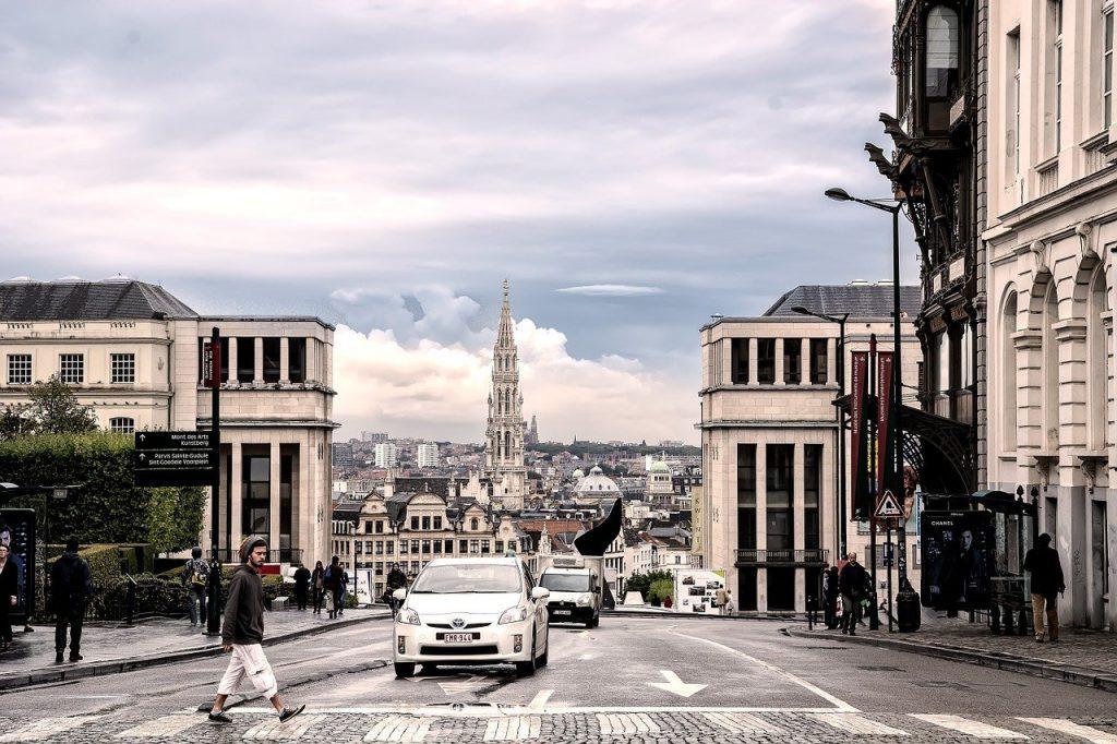 un paysage urbain bruxellois