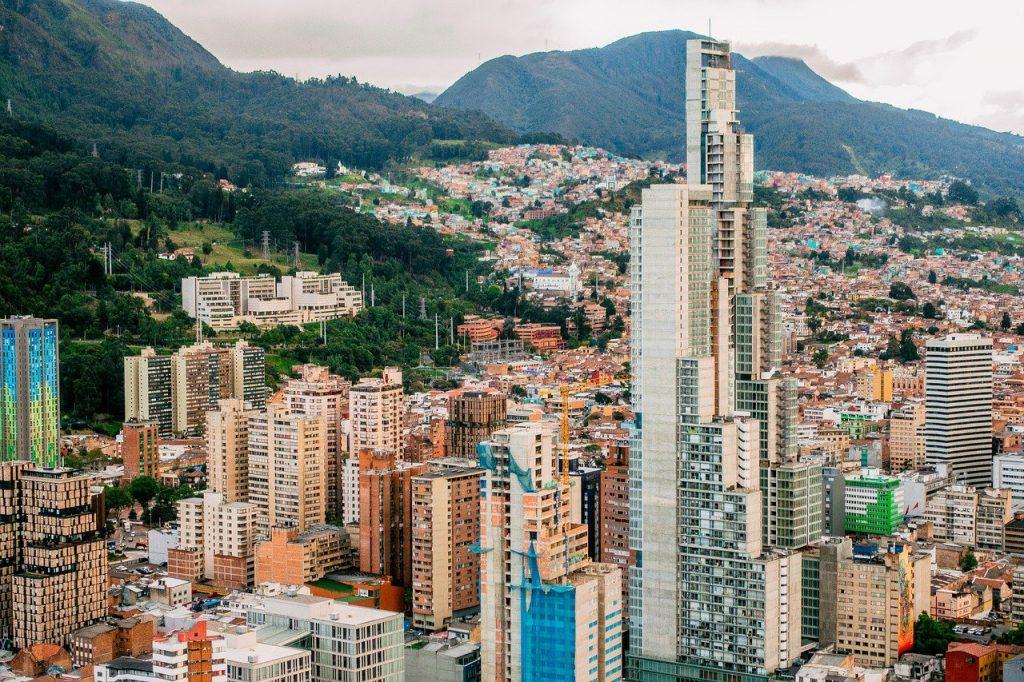 Une vue de Bogota en Colombie