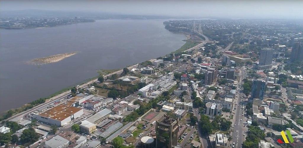 Une vue aérienne de Brazzaville, capitale du Congo