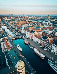Une vue aérienne de Copenhague, capitale du Danemark