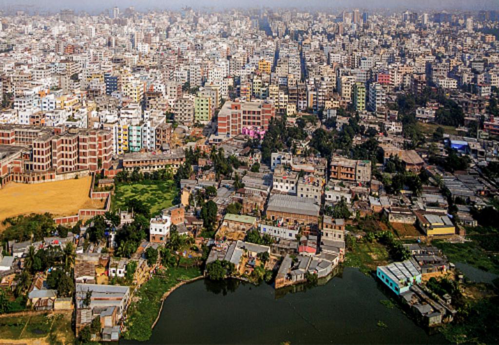 Une vue aérienne de Dacca au Bangladesh