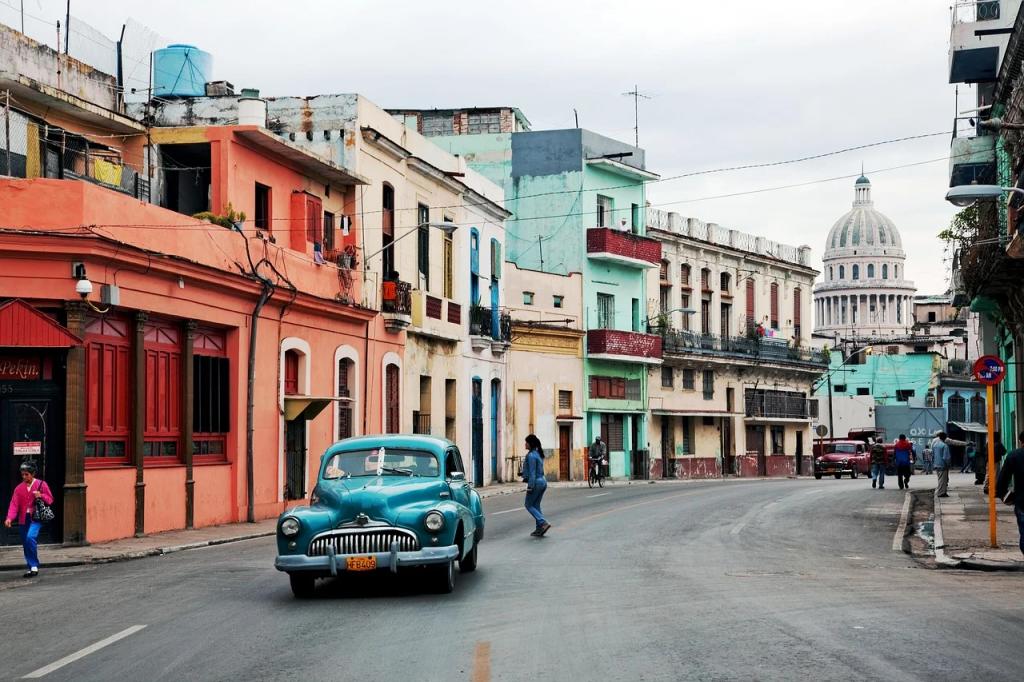 Une rue de La Havane, capitale de Cuba
