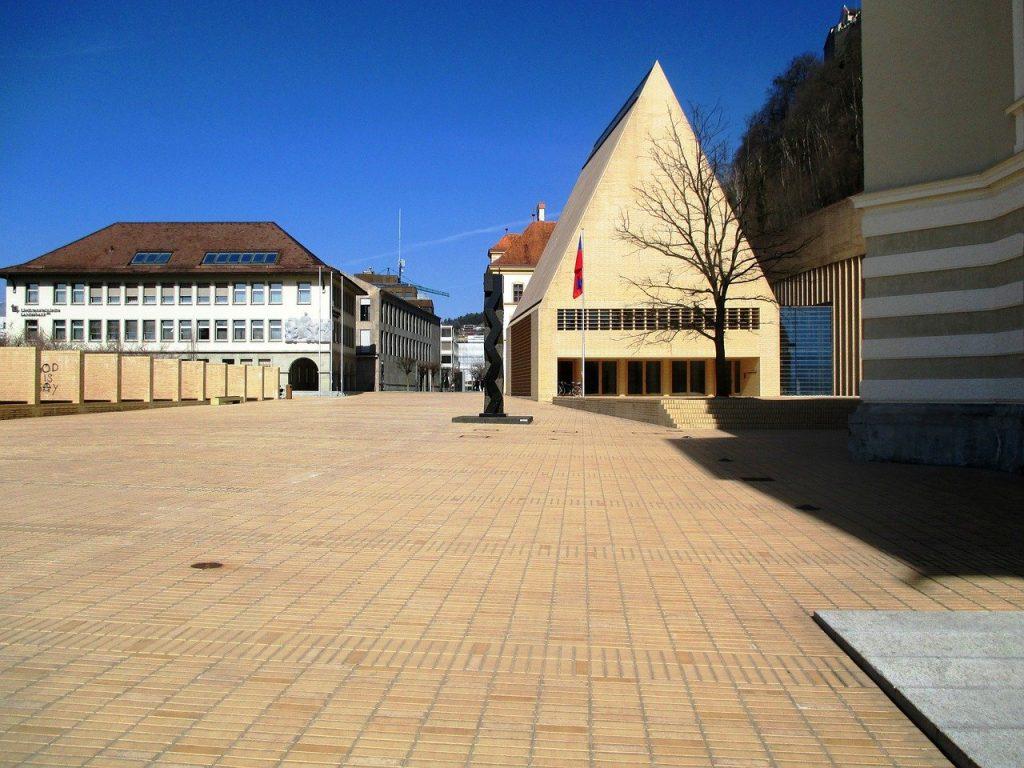 Une vue de Vaduz