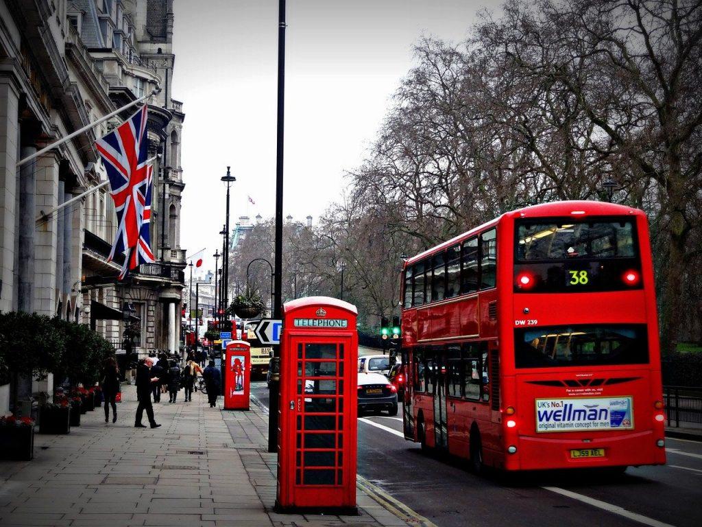 Une rue de Londres au Royaume-Uni