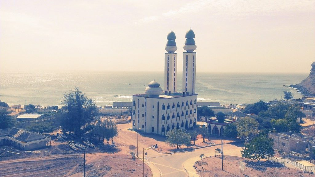 Une mosquée à Dakar au Sénégal