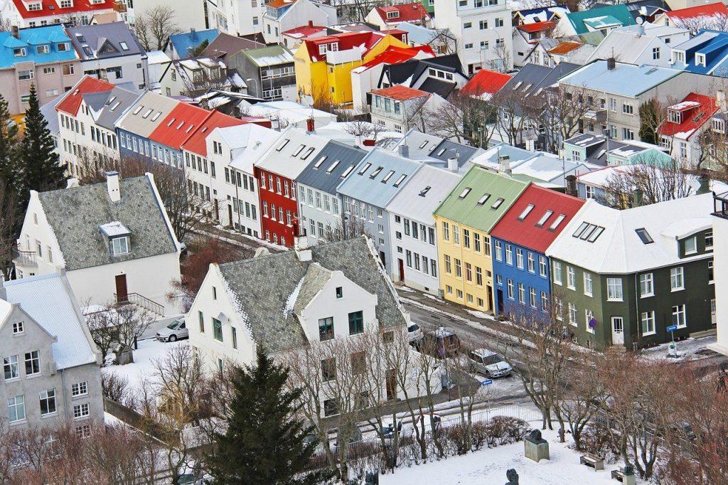 Des maisons colorés de Reykjavik