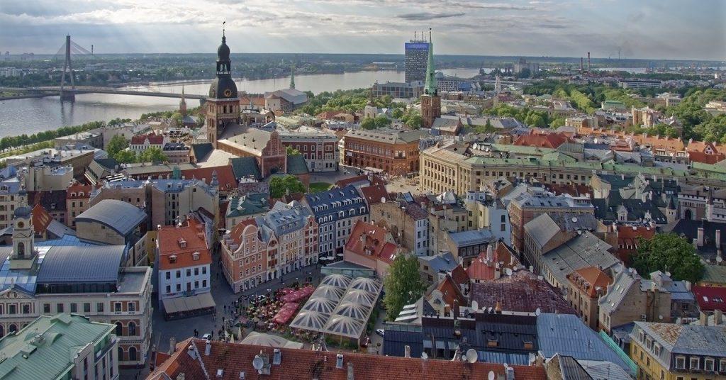 Une vue aérienne de Riga, capitale de Lettonie