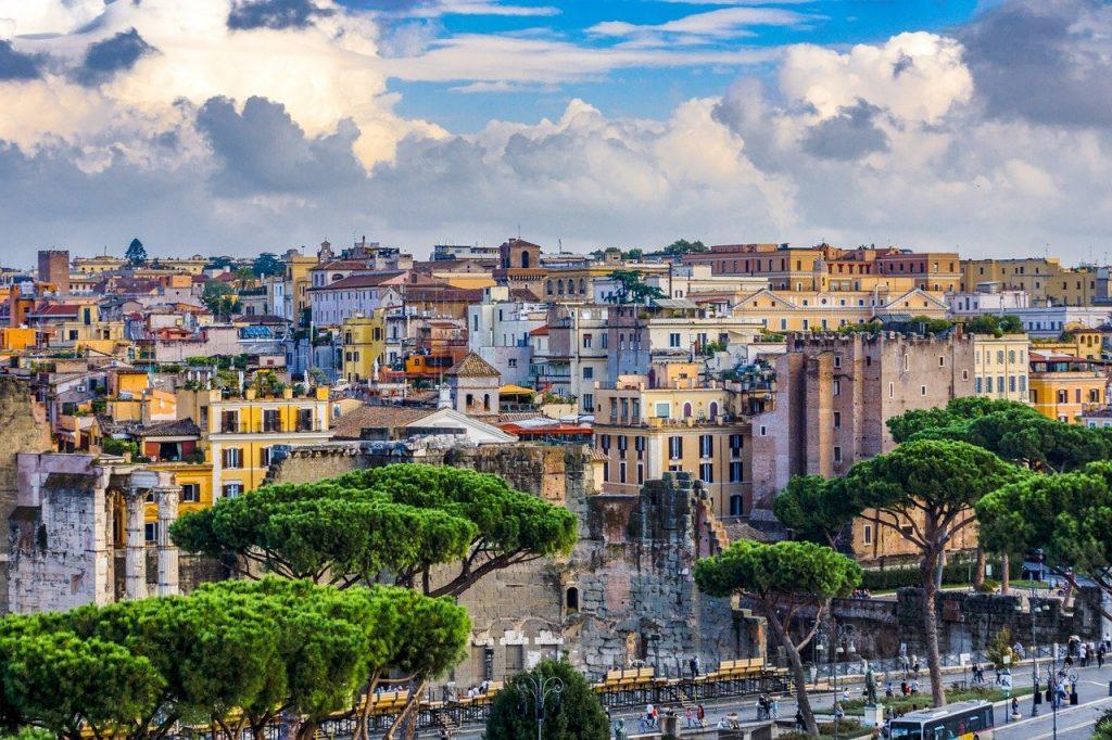 Une des maisons d'habitation à Rome