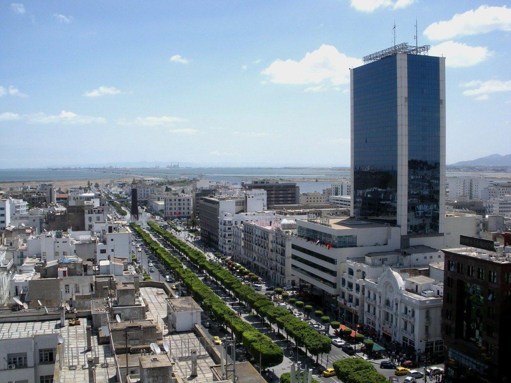 Une vue aérienne de Tunis