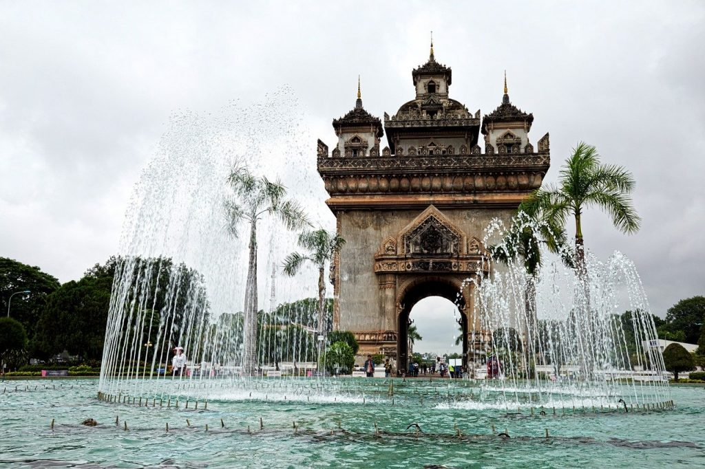 Paysage de Vientiane au Laos