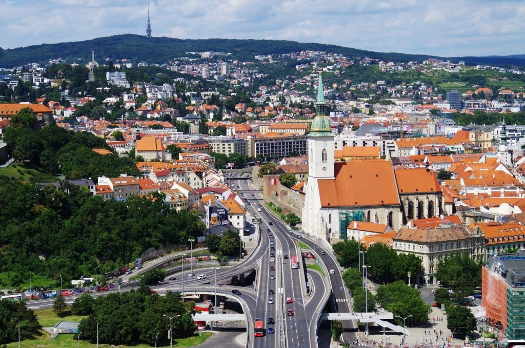 Une vue de Bratislava en Slovaquie